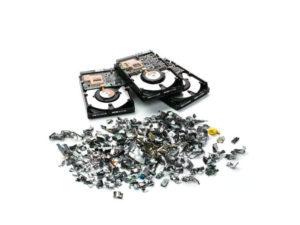 Niszczenie nośników danych, dyski zmielone mechaniczne w niszczarce HSM