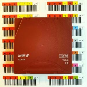 Taśmy IBM LTO-8 z labelami